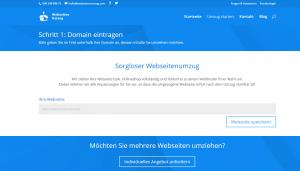 Webseiten Umzugsassistent Schritt1